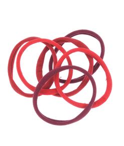Set 6 elastice par, nuante rosii