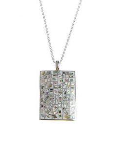 Colier otel, medalionmozaic - Colier otel, medalion mozaic