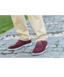 Pantofi Casual Gentlemen`s Corner - Brogue Bordeaux