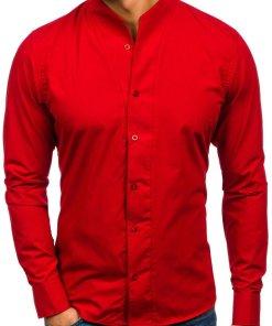 Cămașă cu mâneca lungă pentru bărbat roșie Bolf 5702