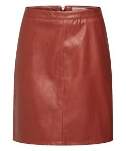 SOAKED IN LUXURY Fusta 'SL Tamara PU Skirt'  burgund