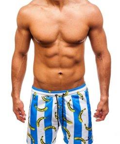 Pantaloni scurți de baie pentru bărbat albaștri Bolf 2376