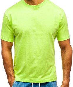 T-shirt pentru bărbați fără imprimeu verde Bolf T1047