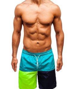 Pantaloni scurți de baie verzi bărbați Bolf 335