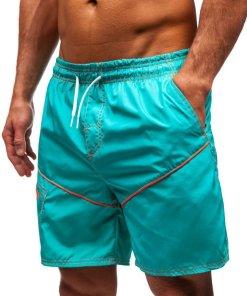 Pantaloni scurți de baie verzi bărbați Bolf 331