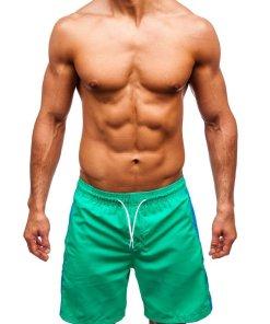 Pantaloni scurți de baie bărbați verde Bolf 350