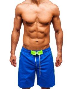 Pantaloni scurți de baie bărbați albastru Bolf 306