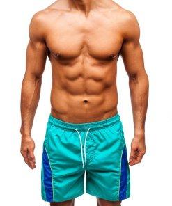 Pantaloni scurți de baie bărbați verzi Bolf Bolf 322