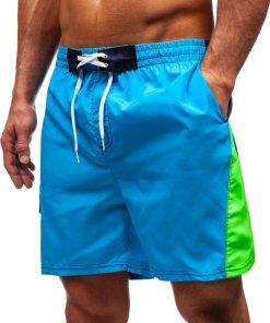 Pantaloni scurți de baie bărbați albastru-deschis Bolf Bolf 347