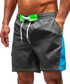 Pantaloni scurți de baie bărbați grafit Bolf 347