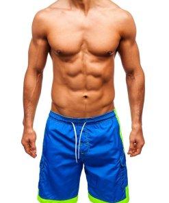 Pantaloni scurți de baie bărbați albastru Bolf 337