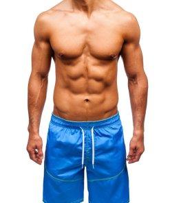 Pantaloni scurți de baie bărbați albastru Bolf 349