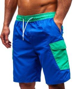 Pantaloni scurți de baie bărbați albastru Bolf 352