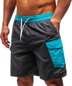 Pantaloni scurți de baie bărbați grafit Bolf 352