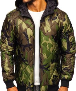 Geacă sport bărbați camuflaj-verde Bolf MY21M