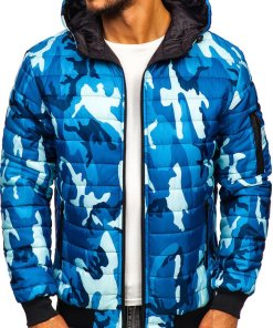 Geacă sport bărbați camuflaj-albastru Bolf MY13M