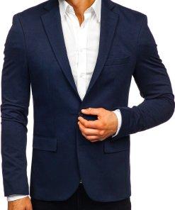 Sacou elegant bărbați bleumarin Bolf SR2003