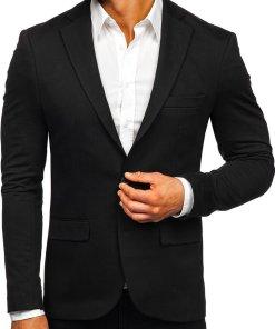 Sacou elegant bărbați negru Bolf SR2003
