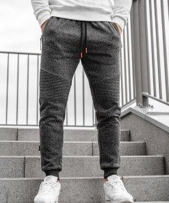 Pantaloni de trening joggers bărbați bleumarin Q3774