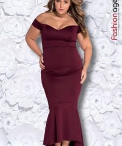 Rochie XXL Desire 152 Bordo
