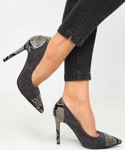 Pantofi stiletto Beauty Gri