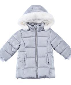 Jacheta copii Chicco, cu gluga, gri