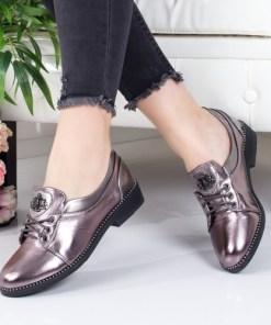 Pantofi Ladislas argintii casual -rl