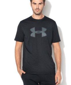 Tricou lejer cu imprimeu logo si HeatGear® - pentru fitness