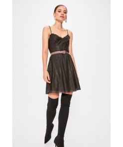 Rochie tulle Trendyol Black tulle detailed dress 984359