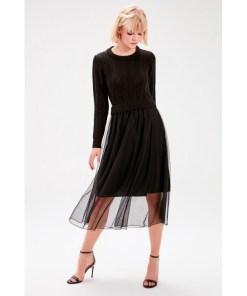 Rochie tulle Trendyol Black Skirt tulle Knitwear Dress 1011870