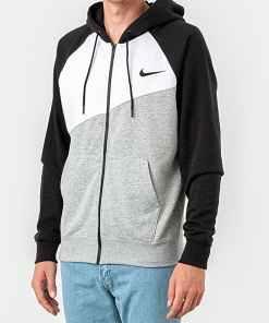 Nike Sportswear Swoosh Hoodie Dk Grey Heather/ White/ Black/ Black
