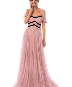 Rochie Ana Radu roz prafuit de lux