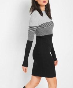 Rochie de tricot cu dungi