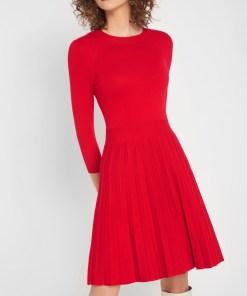 Rochie plisată din tricot