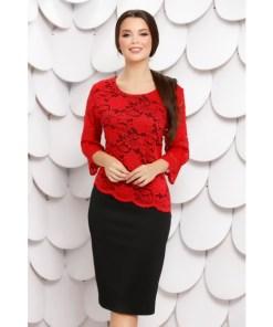 Rochie Liliane Black Red