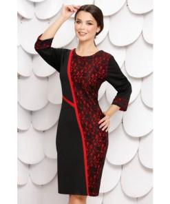Rochie Milagros Black Red