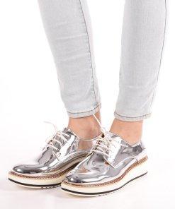 Pantofi dama Aviana argintii