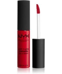 NYX Professional Makeup Soft Matte Metallic Lip Cream ruj de buze lichid cu finisaj metalic mat