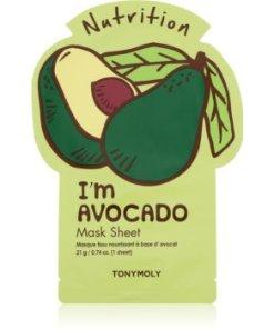 TONYMOLY I'm AVOCADO mască textilă nutritivă