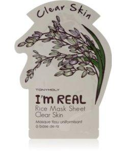 TONYMOLY I'm REAL Rice mască textilă iluminatoare