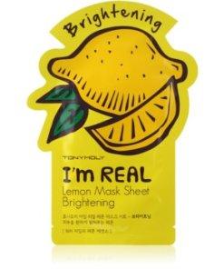 TONYMOLY I'm REAL Lemon Masca de celule cu efect lucios