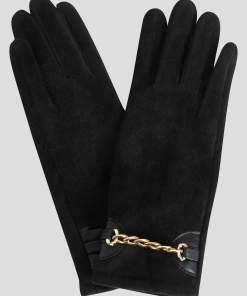 Mănuși din ecopiele întoarsă negre