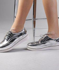 Pantofi dama Jaya argintii