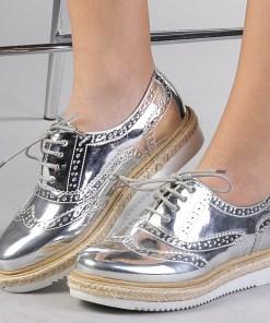 Pantofi casual dama Dina argintii
