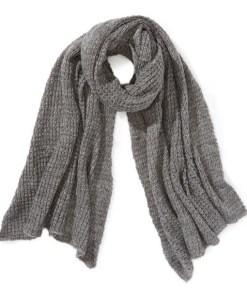 Fular tricotat gri deschis