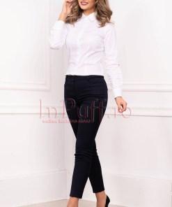Pantaloni dama office conici din stofa cu buzunare