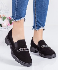 Pantofi dama piele naturala negri casual Xiloponi -rl