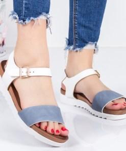 Sandale Corony albastre cu alb-rl