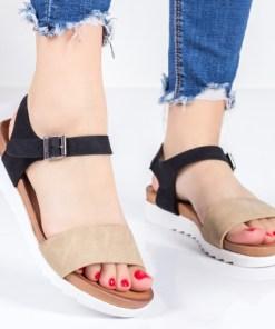 Sandale Corony maro cu negru-rl