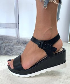 Sandale Platforma Athena Negre #B4634